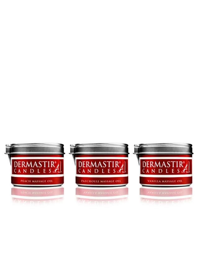 Dermastir Trio Pack – Olio di Candela da Massaggio